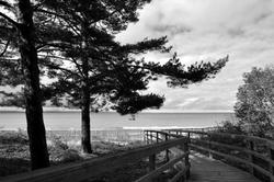 Footbridge along the beach