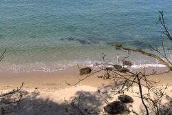 Premier bain de mer