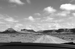 Sur la route des Bardenas Reales