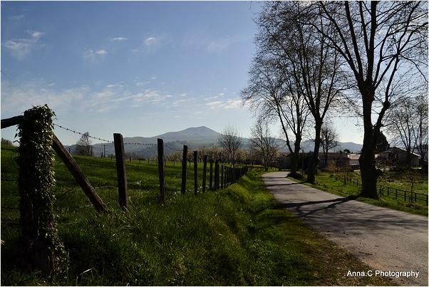 Petite route de campagne basque