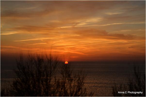 Coucher de soleil sur la côte des Basques