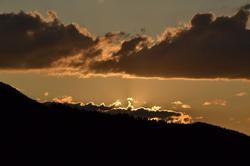 Sunset under clouds