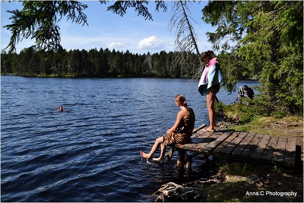 Baignade à l'étang
