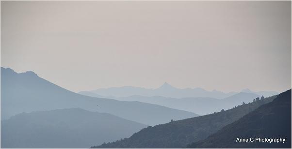 Panorama dans la brume