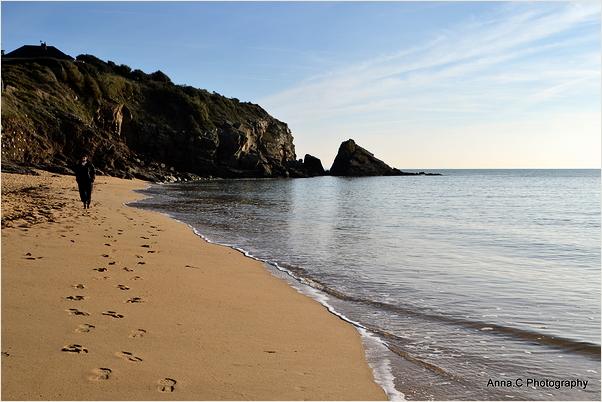 Promenade en solitaire sur la plage