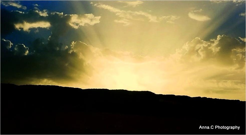 Coucher de soleil sur le Sahara