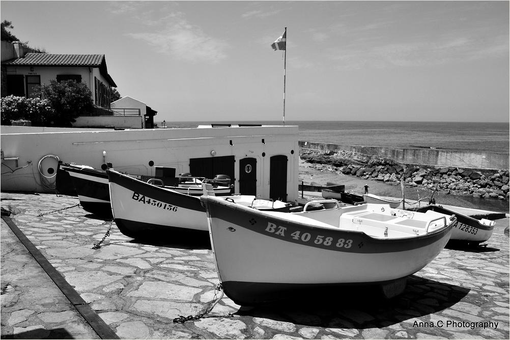 Les barques de Guéthary
