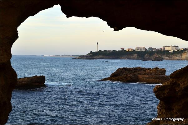 Fenêtre sur Biarritz