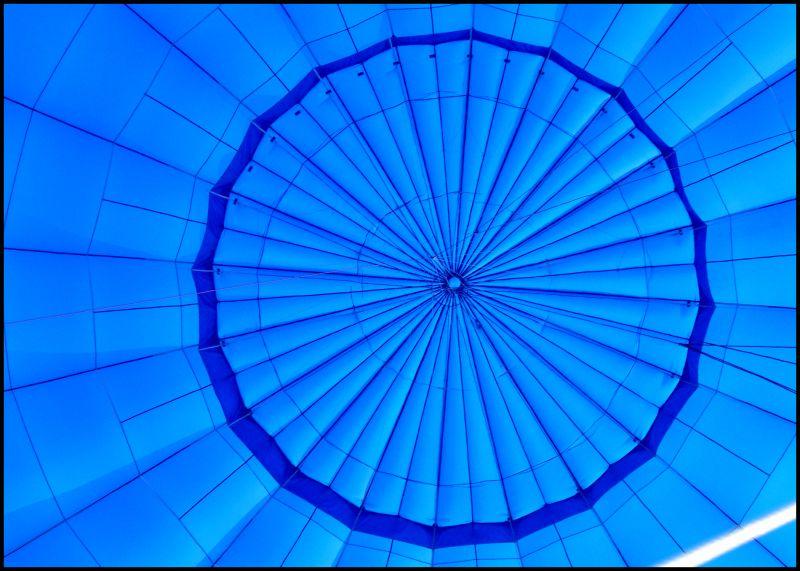 Inside a hot air balloon