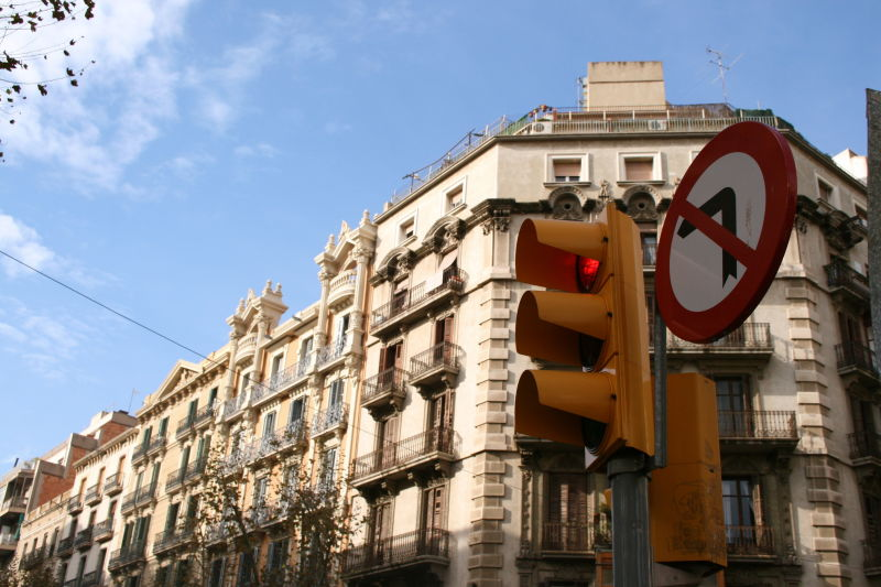 Barcelona, traffic lights