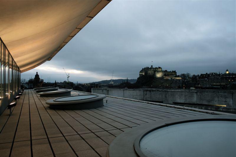 Edinburgh, Scotland, National Museum, rooftop