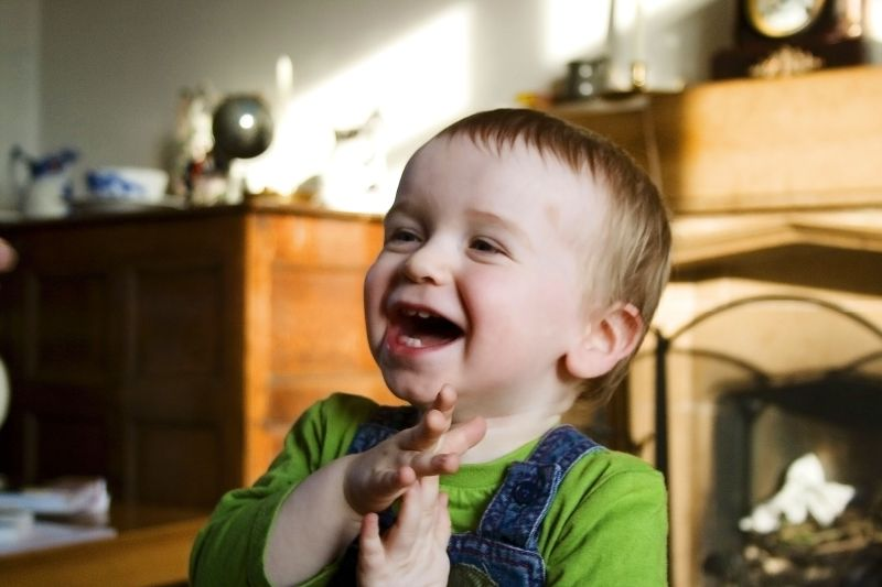 baby, laughing, portrait
