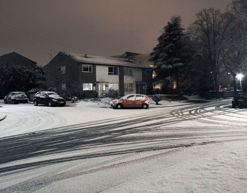 Car, snow, birmingham, winter