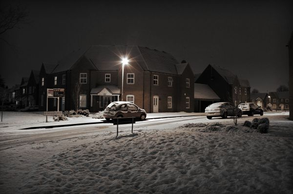 birmingham, snow, winter, street