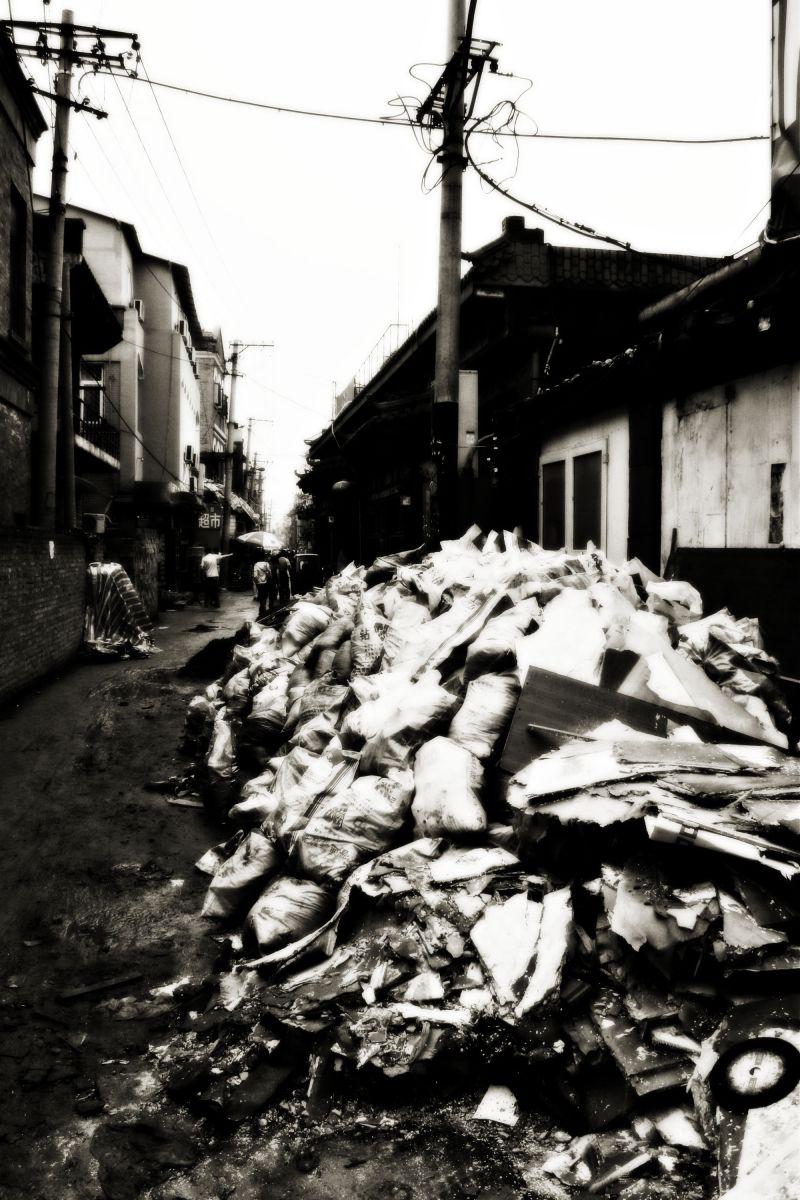 Rubbish, Hutong, China, Beijing, travel