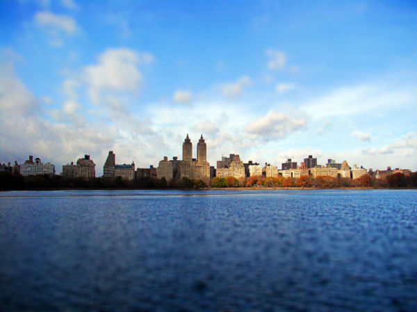 new york, central park, sunlight, lake