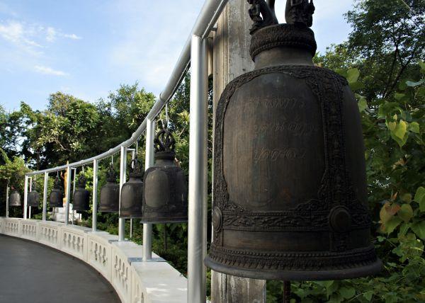 bells, buddha, golden mount, thailand, bangkok