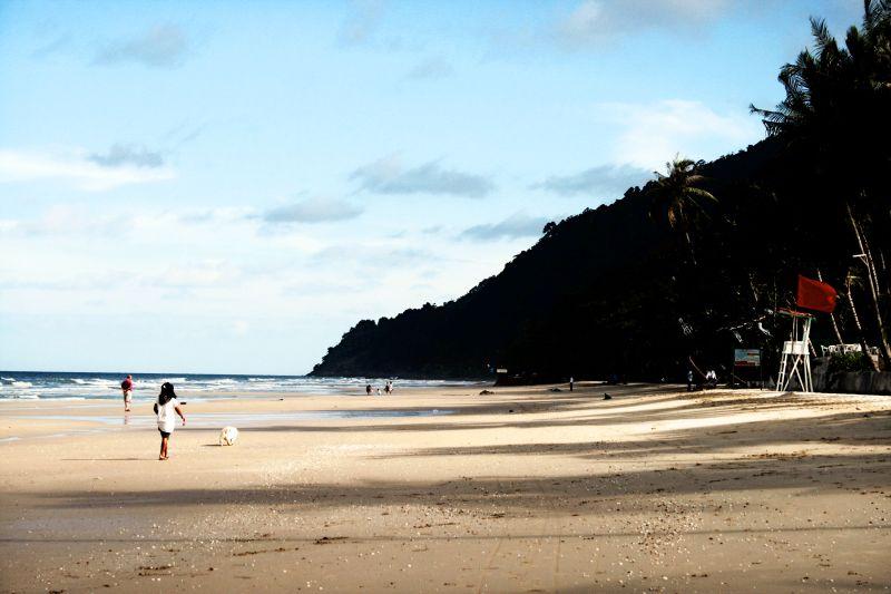 koh chang, white sand beach, thailand,