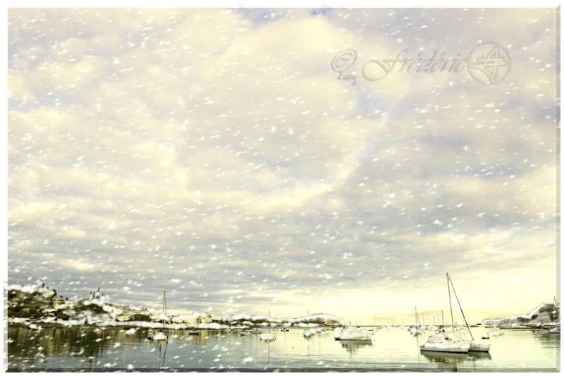 Neige à Nouméa baie de l'orphelinat