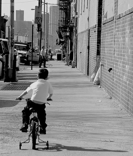 The mean streets...on training wheels.