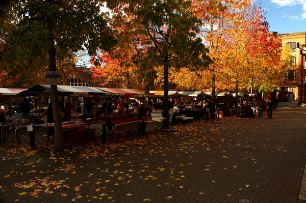 The Farmer's Market, Oxford, United Kingdom.
