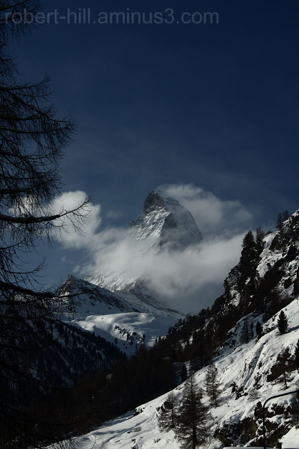 View of the Matterhorn from Zermatt, Switzerland.