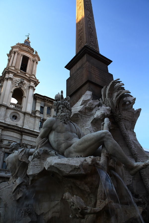 Fountain in Rome, Italy.
