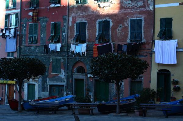 Boats in the Cinque Terra, Italy.