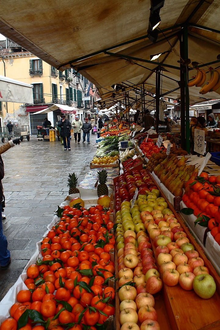 Fruit market in Venice, Italy