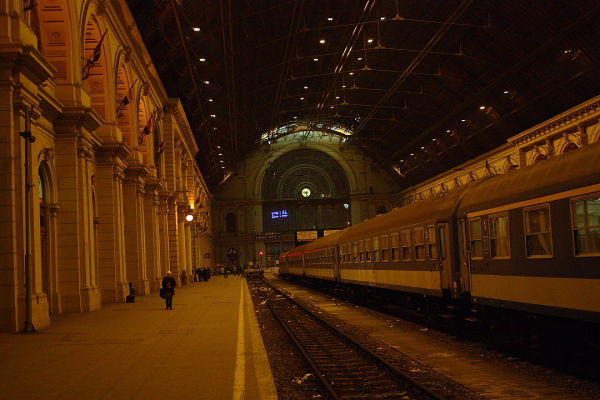 Central train station in Budapest, Hungary