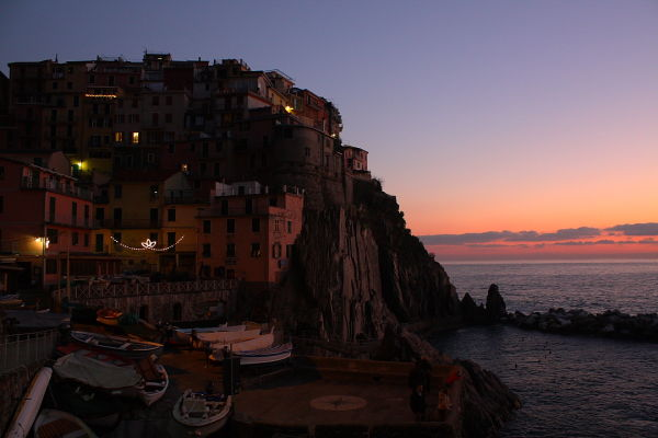 View of the Cinque Terra in Italy.