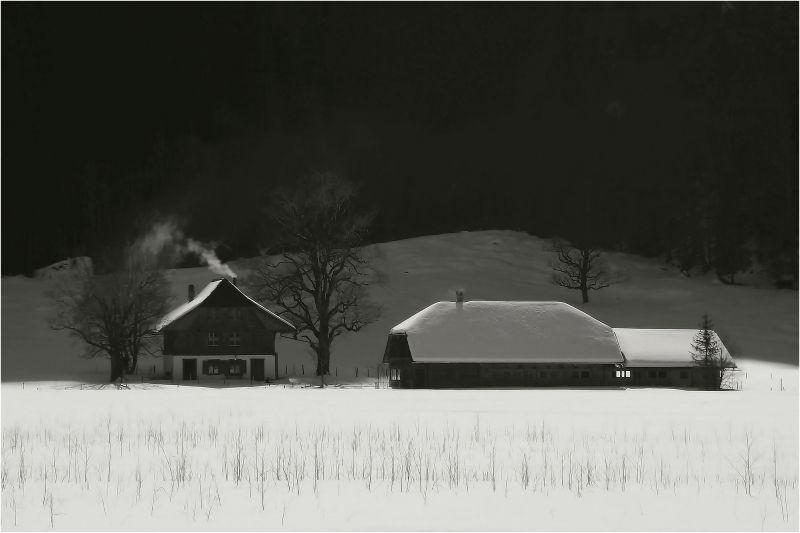 Recouvert de neige