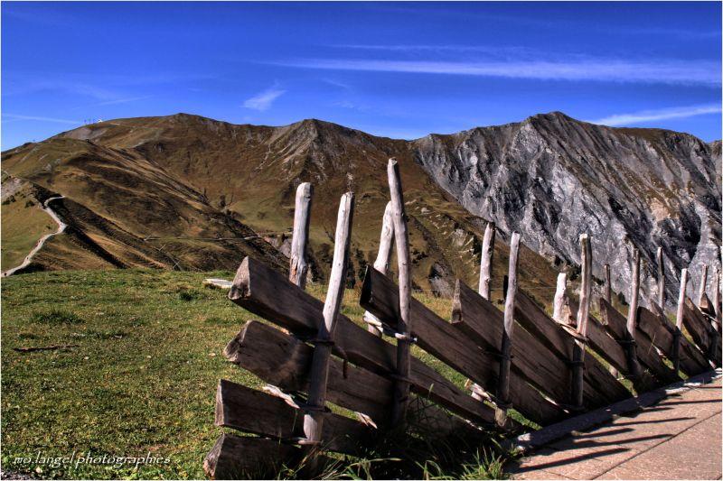 Terrasse et montagne