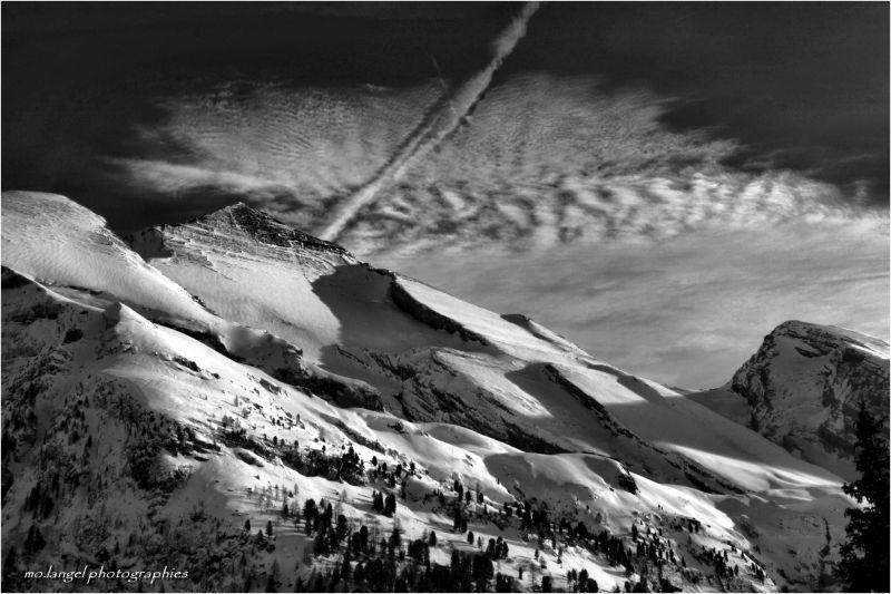 Fusion du ciel et de la montagne