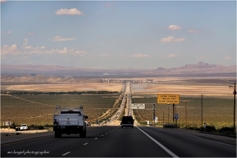 On the border of the Nevada