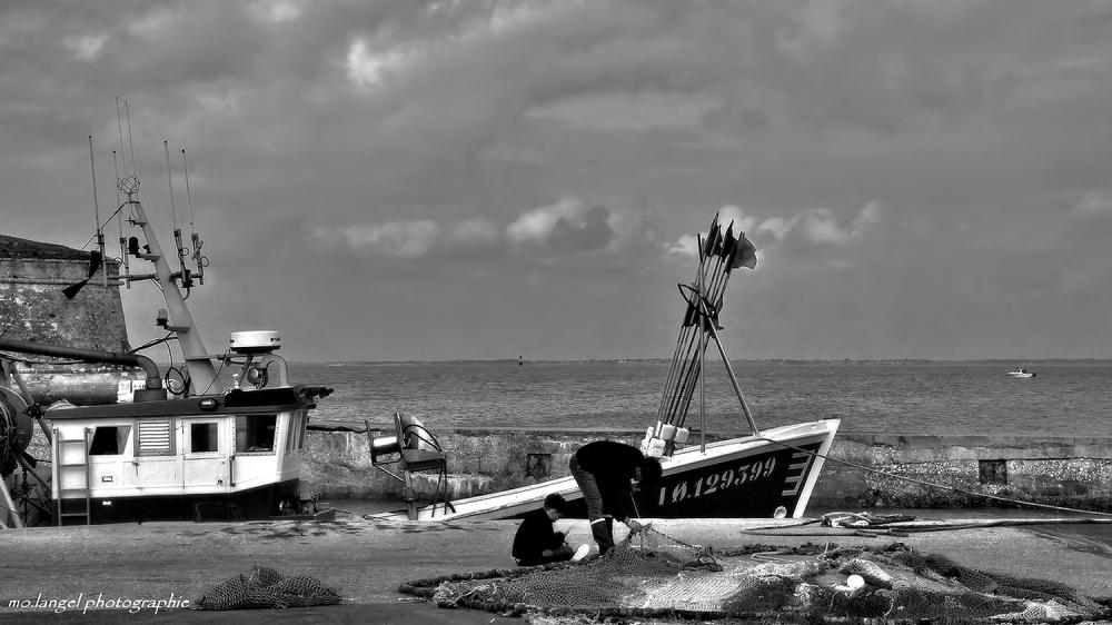 Apprentissage de la vie de pêcheurs