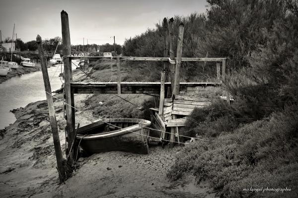 Le chenal à marée basse