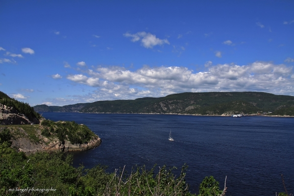 Et la route s'arrête face à la rivière Saguenay