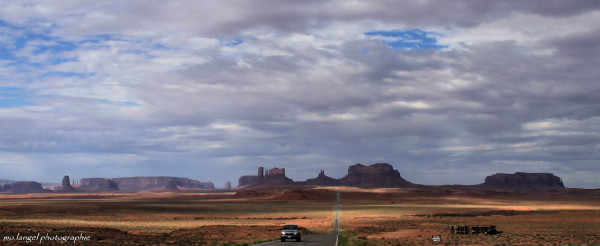 On the road of Monument Valley