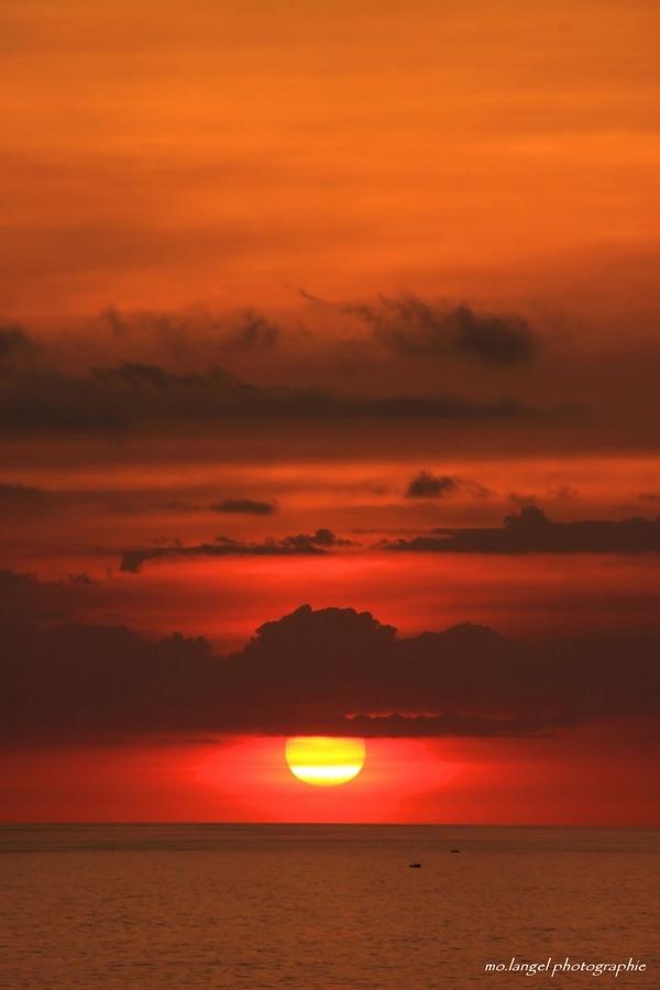 Un Pacifique coucher de soleil
