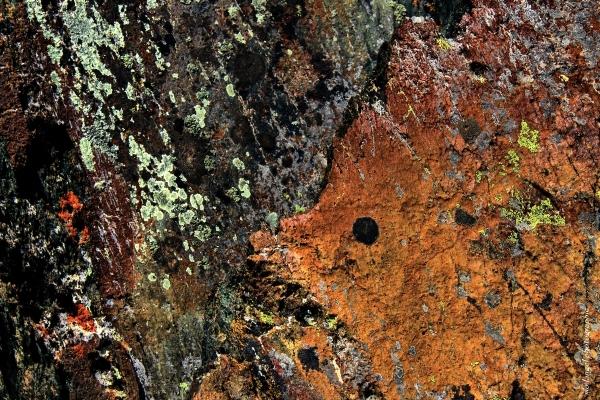 Les couleurs de la roche