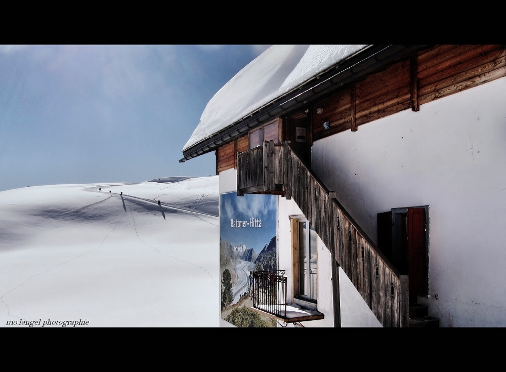 Balcon sur le glacier