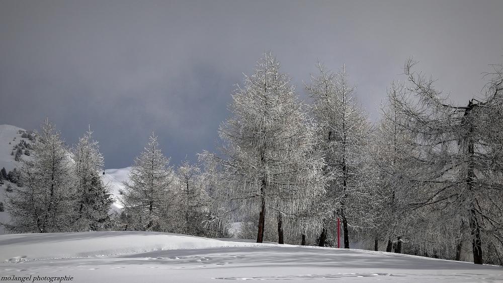 Givre et neige