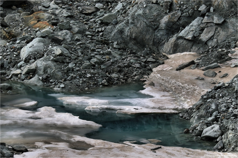 L'eau des glaciers