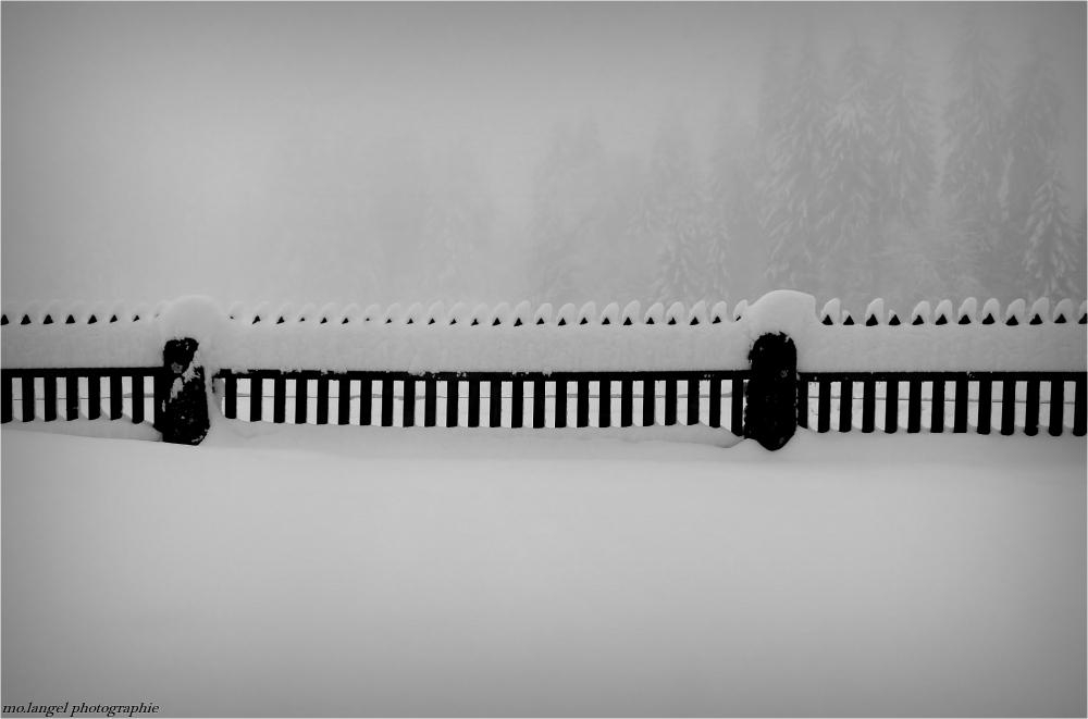 La barrière sous la neige