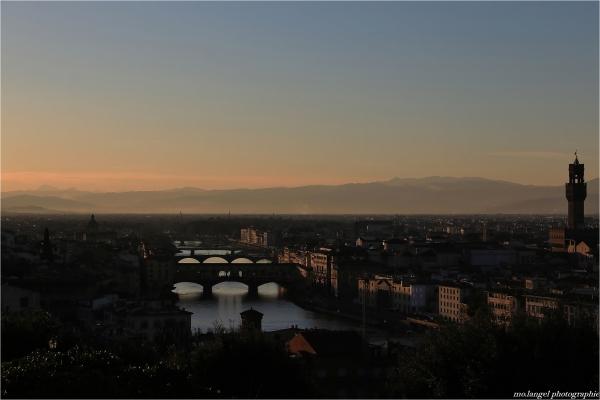 Quand le soir descend sur Florence