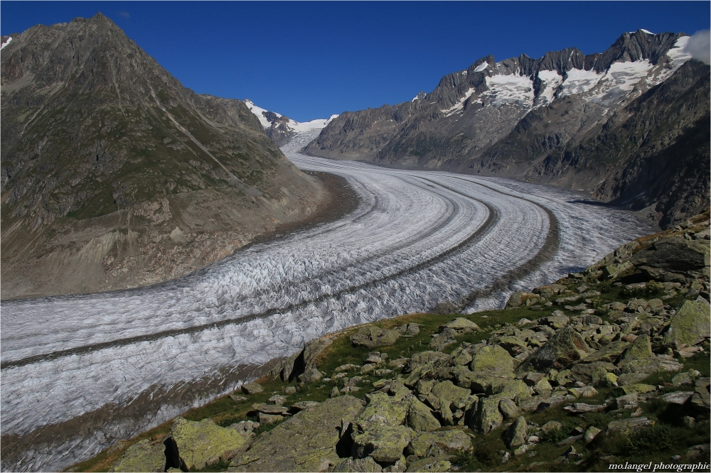 Randonnée au-dessus du glacier