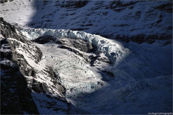 Eclaircie sur le glacier
