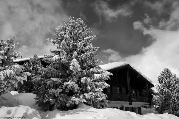 Le chalet dans la neige