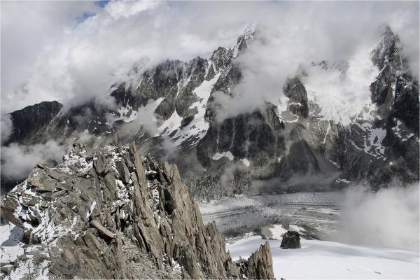 Au dessus du glacier